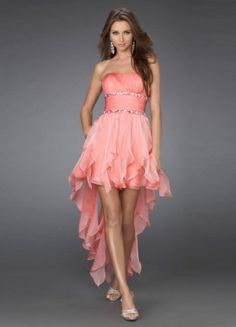 This would be so pretty for dama dresses! Empire Strapless Sleeveless Short / Mini Chiffon Bridesmaid / Cocktail Dresses / Homecoming Dresses
