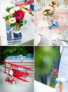 A vintage airplane inspired wedding in Italy on the wedding chicks blog....♥♥♥