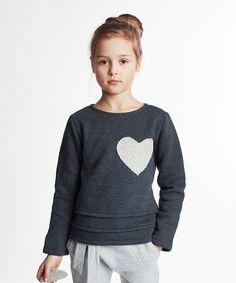 Look at this #zulilyfind! Dodo Graphite Heart Sweatshirt - Kids by Dodo #zulilyfinds