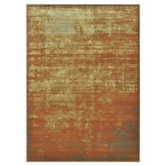 Vintage-inspired rug. Made in Egypt.  Product: RugConstruction Material: PolypropyleneColor: Rust and...