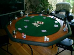 DIY your own poker table, this wouldn't be too hard either! Too bad I can't play poker lol