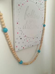 Oh My Garland - Blue Flamingo Flamingo, Tassel Necklace, Garland, Kids, Blue, Jewelry, Toddlers, Jewellery Making, Boys