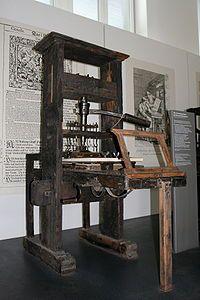 printing press. On the island.