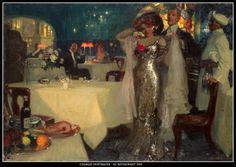 Charles Hoffbauer - Au restaurant 1907