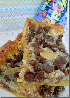 Almond Joy Magic Bars so good! #recipes #magicbars... I know somebody that would eat the whole batch...