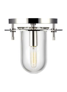 Kelly by Kelly Wearstler Lighting Nuance 1 - Light Extra Small Flush Mount in Polished Nickel Cast Glass, Task Lighting, Kelly Wearstler, Industrial Chic, Glass Design, Nickel Finish, One Light, Polished Nickel, Floor Lamp