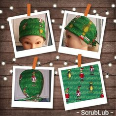 """Scrub Caps, """"GRINCH Christmas"""" Unisex Surgical Caps Unique and Fun Surgical Hats for Men and Women by ScrubLub - GS Handmade Grinch Stole Christmas, Christmas Ornaments, Surgical Caps, Scrub Caps, Dark Colors, Hats For Men, Scrubs, Merry"""