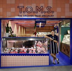 T.O.M.S. The Organic Meat Specialist by Flack Studio.