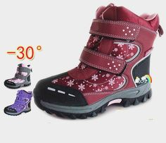 6e7d83b246f8d 1 par impermeable caliente niños niña nieve botas de invierno botas de  esquí + interior natural