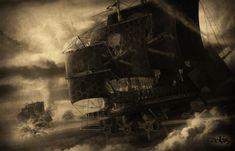 Pirate Fantasy Art | Ship Picture (2d, fantasy, ship, battleship, pirate ship)