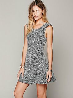 Free People Holiday Embellished Shoulder Dress