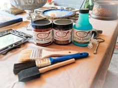 How To Get A Patina On Metal Finish Using Dixie Belle Patina Paint. Patina Paint, Patina Metal, Patina Finish, Clear Glass Vases, Glass Jars, Small Paint Brushes, Paint Companies, Dixie Belle Paint, Paint Drying