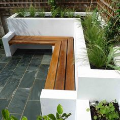 Garden benches are ideal for gardens large or small