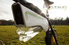 大気中に含まれる水分をペットボトルに貯める自転車