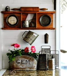 Repurposed Kitchen Decor - Salvage Style! from KnickofTime.net