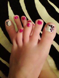 Leopard and pink! Pedi, Pink Nails, Nailart, Fashion Beauty, Beauty Hacks, Nail Designs, Health, Pretty, Hair