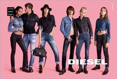 Diesel puts its denim front and center for its fall-winter 2016 campaign.