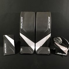 The Bauer pads are out, check out some of our favorite pad designs! Hockey Goalie Pads, Goalie Gear, Henrik Lundqvist, Hockey Room, Hockey Memes, Pad Design, Gears, Coaching, Hockey Stuff