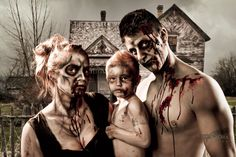 Zombie Family Portrait (BellaOra Studios Photography by Todd Keith and Renee Keith)