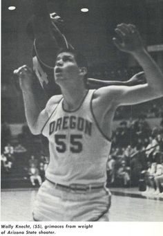 Oregon basketball player Wally Knecht 1960-61. From the 1961 Oregana (University of Oregon yearbook). www.CampusAttic.com