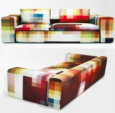 Pixel Sofa A sofa to match any color scheme – is it possible? Certainly with the Pixel Sofa, based on a concept of Royal College of Art graduate, Cristian Zuzunaga. With its wide spectrum of colors no matter your wall color – it will fit.