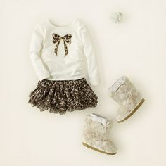 baby girl - outfits - kitty cream | Children's Clothing | Kids Clothes | The Children's Place