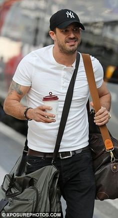 Former flame: Kym's ex-husband Jamie Lomas was pictured hopping on a train, with the actor recently making his return to Hollyoaks as bad boy Warren Fox (formerly played Jake on Eatstenders) Kym Marsh, Soap Awards, Sleeveless Denim Dress, Hollyoaks, Red Carpet Ready, Fit Men, Ex Husbands, Old Actress, Body Motivation