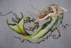 Mermaid ~ cross stitch ~ Mirabilia ~ <3