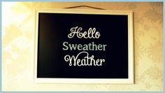 Het is weer herfst! Heerlijk om de woonkamer dan weer te pimpen in andere kleurtjes. En daar hoort natuurlijk ook een nieuwe spreuk op het 'chalkboard' bij!