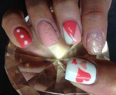 Day 149: Heartfelt Pink & White Nail Art - - NAILS Magazine