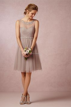 Wholesale cheap bridesmaid dress online, 2014 spring summer - Find best 2014 real image A line tulle bridesmaid dresses crew neck sleeveless sheer back knee length champagne short formal party gowns dP at discount prices from Chinese bridesmaid dress supplier on DHgate.com.