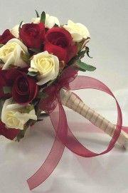 Bukiety ślubne - róże-36