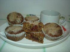 muffin de banana recheado com goiabada
