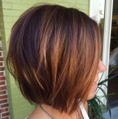 60 Layered Bob Styles: Modern Haircuts with Layers for Any Occasion - Cute Layered Caramel Brown Bob - Layered Bob Hairstyles, Hairstyles Haircuts, Stacked Bob Haircuts, Longer Bob Hairstyles, Bobbed Haircuts, Hairdos, Medium Hairstyles, Woman Hairstyles, Elegant Hairstyles