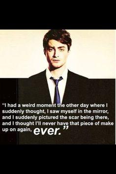 A weird moment, a sad realization.