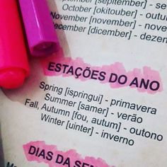 Melhores estações ❤🤗 English Tips, English Fun, English Study, English Class, English Lessons, Learn English, Portuguese Lessons, Portuguese Language, English Language