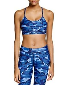 Hpe Combat Camo Freshfit Sports Bra - Blue Camo from Bloomingdales . Blue Camo, Women's Sports Bras, Camouflage, Active Wear, Swimwear, How To Wear, Clothes, Outfits, Shopping