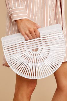 When it's time to Up Your Style, then this chic, unique bamboo bag is absolutely the way to go! I mean, when was the last time you saw someone toting one of these beauties around? White Tassel Earrings, Gold Earrings, Shop Red Dress, White Acrylics, Trendy Clothes For Women, Latest Outfits, Pearl Studs, Handbags On Sale, Womens High Heels