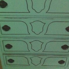 Most recent project.  Restored antique dresser with providence paint, distressed with black underneath.