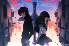 Find images and videos about beautiful, art and anime on We Heart It - the app to get lost in what you love. Anime Love Couple, Manga Couple, Cute Anime Couples, Katsura Kotonoha, Anime Guys, Manga Anime, Anime Couples Drawings, Hyouka, Sad Art