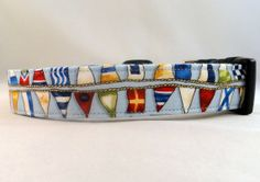 Awesome Nautical Flags on Blue Dog Collar by Maltipaws on Etsy, $13.25