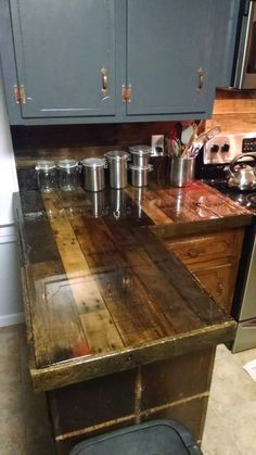 Kitchen Cabinets From Pallets pallet countertops & backsplash | pallet projects, countertops and