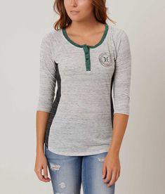 Hurley Juliana Henley Top - Women's T-Shirts in Salt and Pepper   Buckle