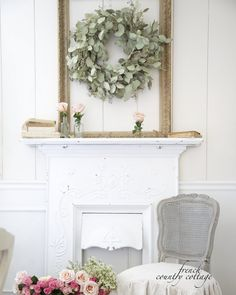 Inspiration ~ How to use empty frames - FRENCH COUNTRY COTTAGE