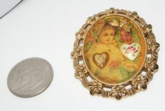1928 Brand Photo collage BROOCH pin costume jewelry | eBay