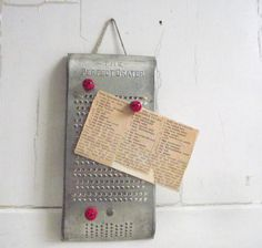 Vintage Metal Grater  The Perfect Grater  Metal Food by gazaboo
