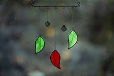 Stained Glass Leaves Leafy Mobile Suncatcher - Folksy Sun Catcher, Stained Glass, Leaves, Suncatchers, Stained Glass Panels, Leaded Glass, Fused Glass