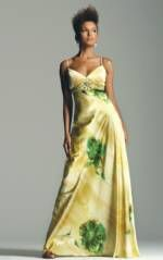 Watercolor-inspired floral gown