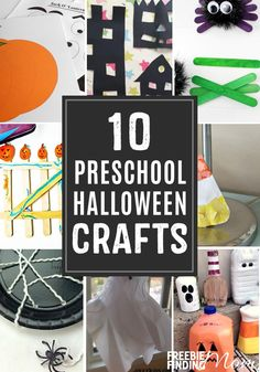 10 Preschool Halloween Crafts fun easy fall themed spooky crafts for toddler halloween DIY ghost spider school party inspiration Halloween Crafts For Kids, Crafts For Kids To Make, Halloween Activities, Halloween Projects, Preschool Halloween, Preschool Crafts, Halloween Fun, Fun Crafts, Halloween Spider