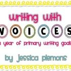 Writing VOICES Bulletin Board Headers and Goal Cards for primary classrooms